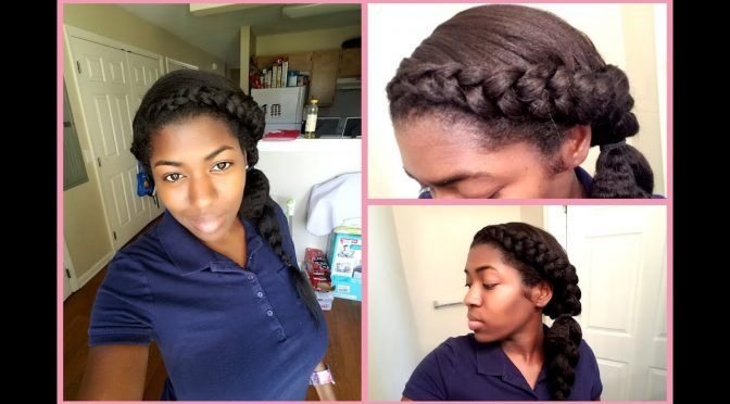 How to Do a Braided Protective Hairstyle using Clip in Hair Extensions