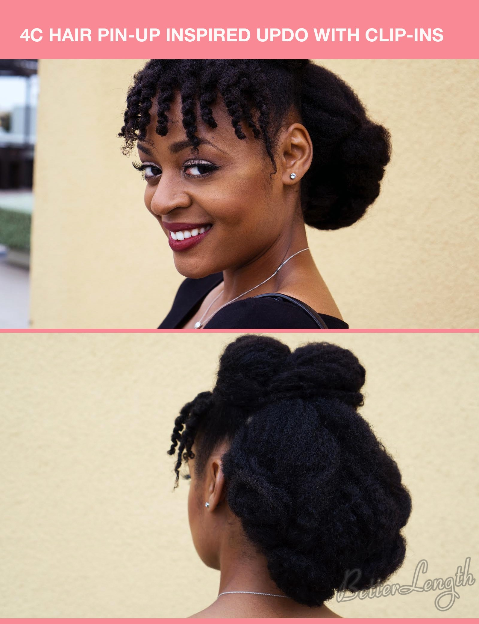 4chairupdo - TOP 6 Quick & Easy Natural Hair Updos
