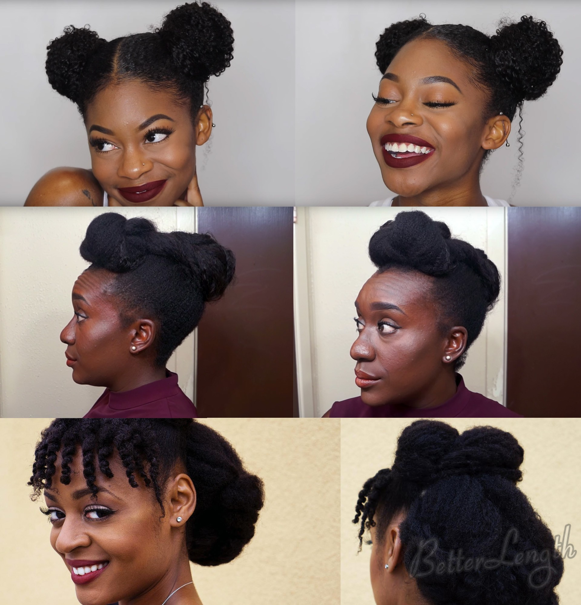 naturalhairupdos - TOP 6 Quick & Easy Natural Hair Updos