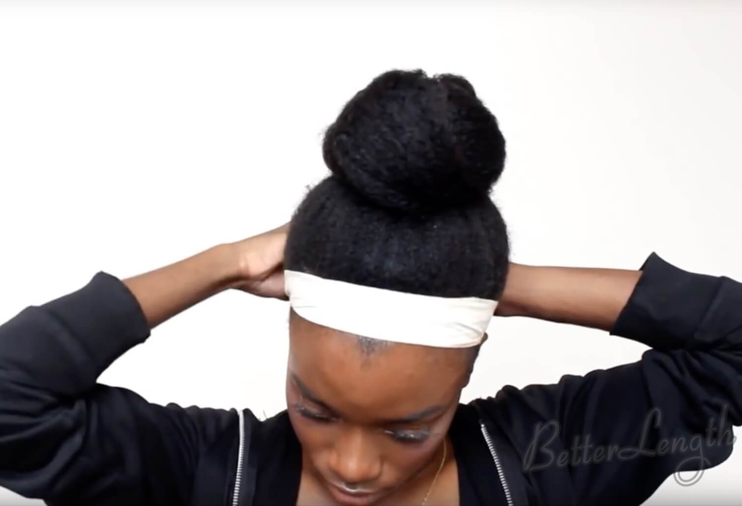 11 - TOP KNOT BUN ON 4C NATURAL HAIR
