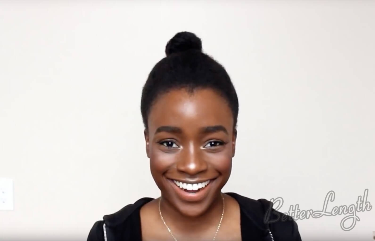 5 - TOP KNOT BUN ON 4C NATURAL HAIR