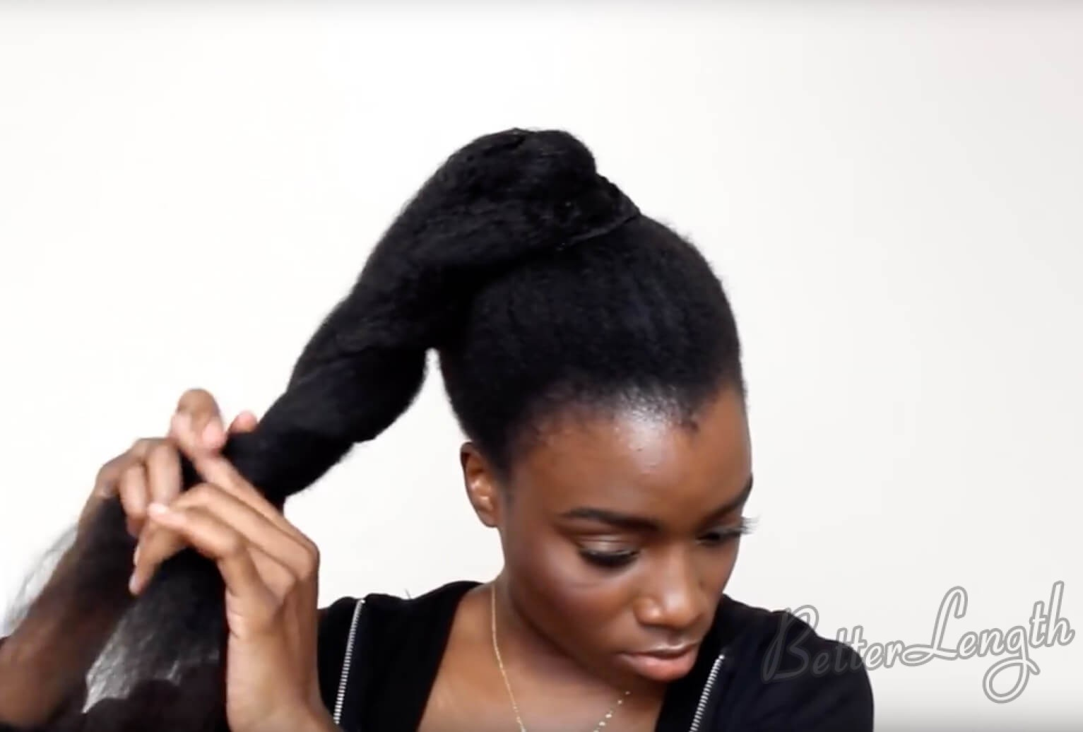 7 - TOP KNOT BUN ON 4C NATURAL HAIR