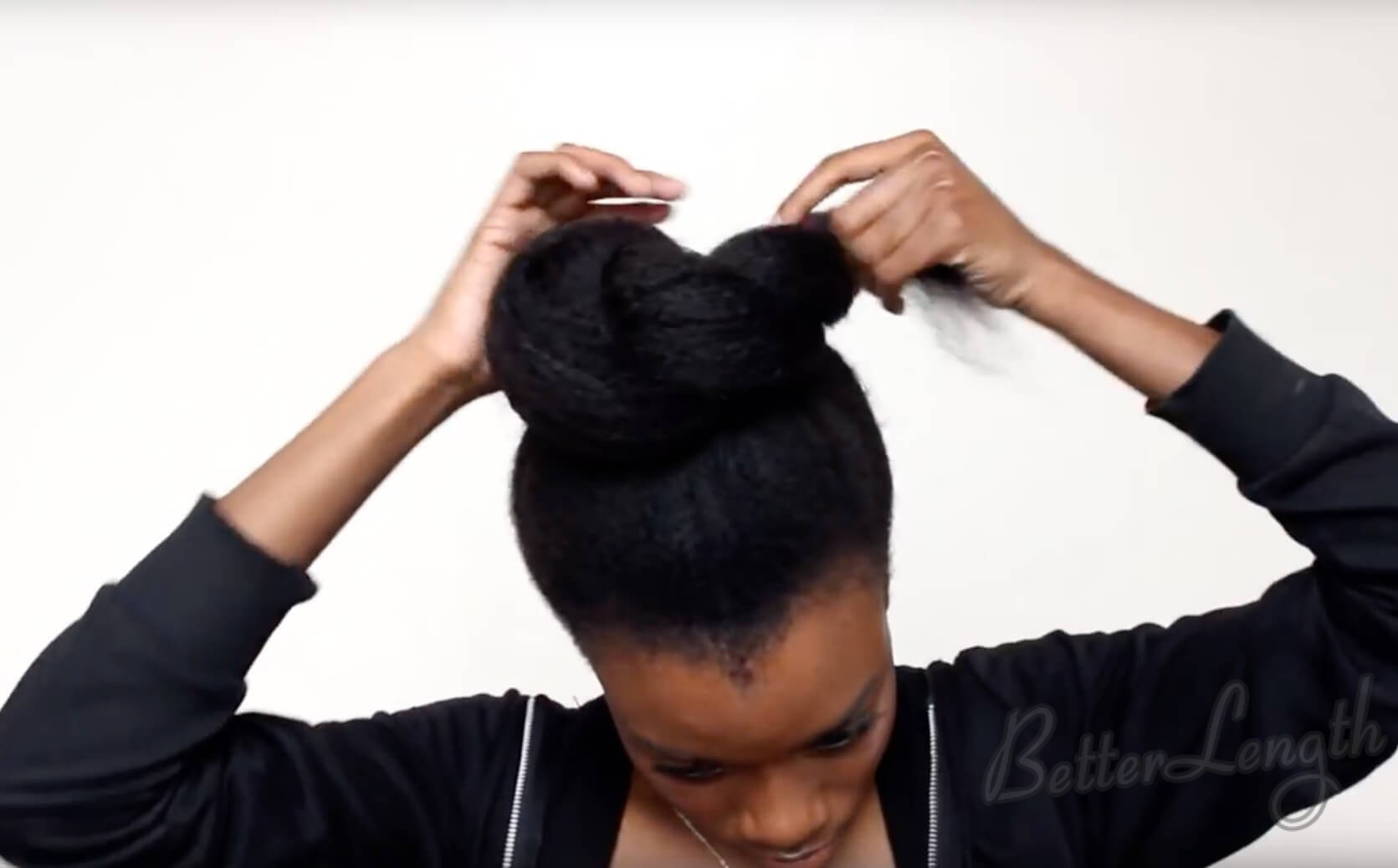 8 - TOP KNOT BUN ON 4C NATURAL HAIR