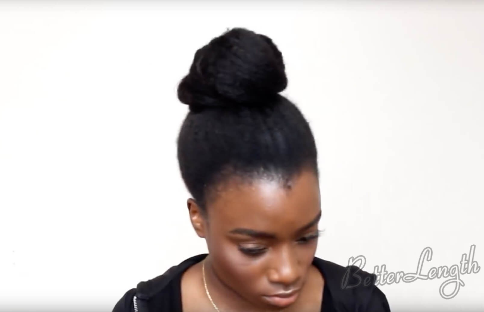 9 - TOP KNOT BUN ON 4C NATURAL HAIR