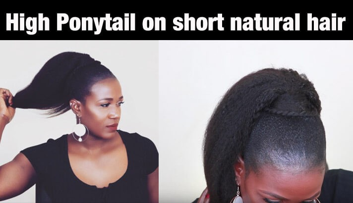 HighPonytailonshortnaturalhair