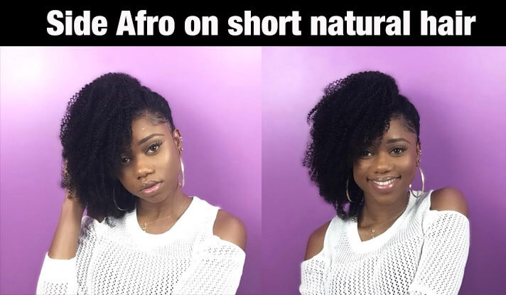 SideAfroonshortnaturalhair