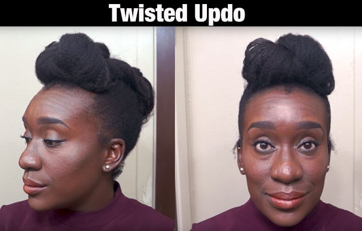 twistedupdo - 10 BEAUTIFUL 4C NATURAL HAIRSTYLES FOR THIS SUMMER