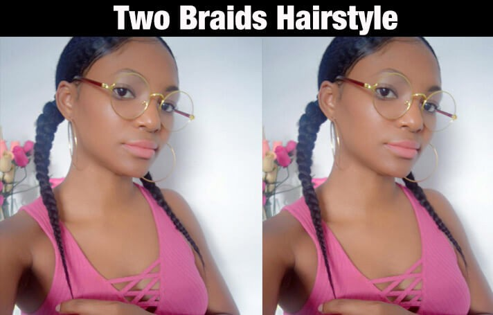 twobraidsstyle - 10 BEAUTIFUL 4C NATURAL HAIRSTYLES FOR THIS SUMMER