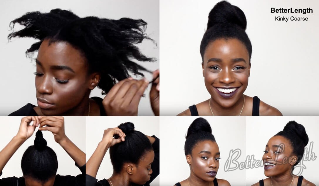 topknotbun - How to Protective Style using Textured Clip Ins