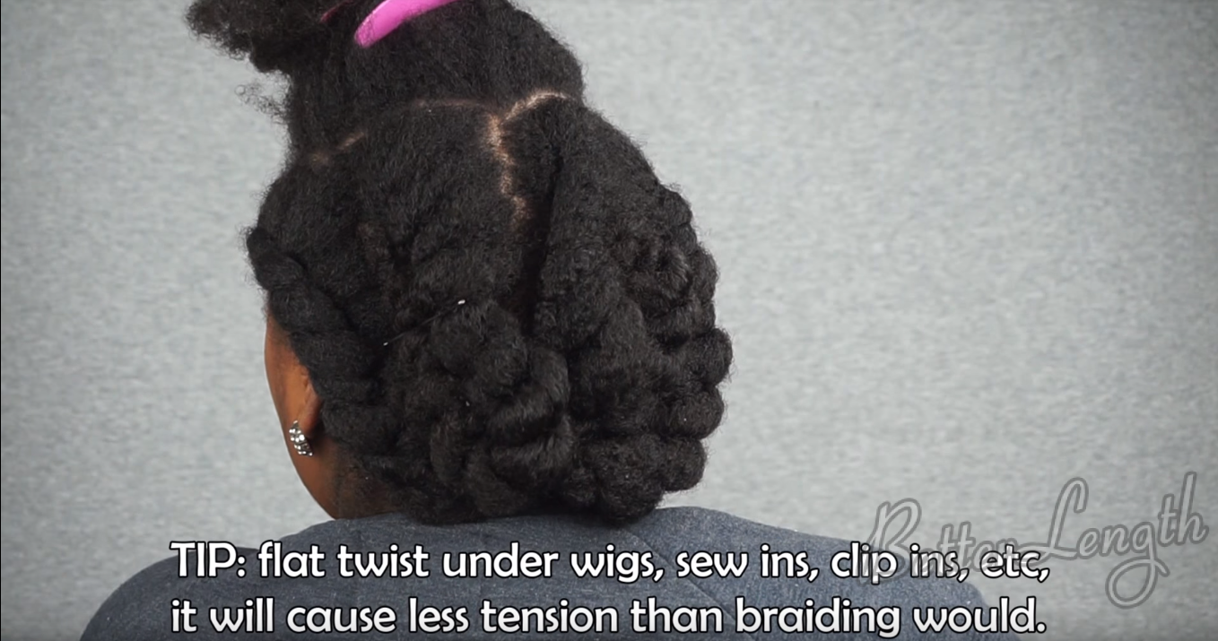 how to do a winter protective hairstyle with clip ins_1