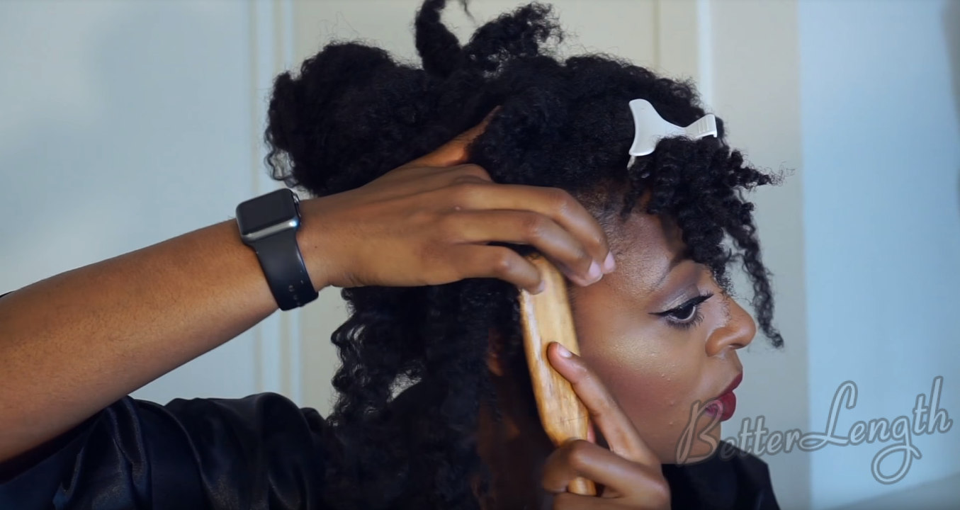 4C HAIR PIN-UP INSPIRED UPDO WITH CLIP-INS Tutorial_13