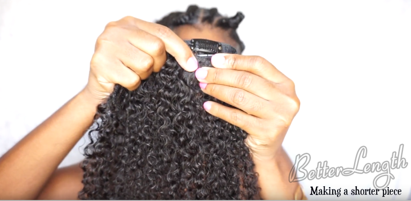 how to do a natural hair protective style with clip ins_15