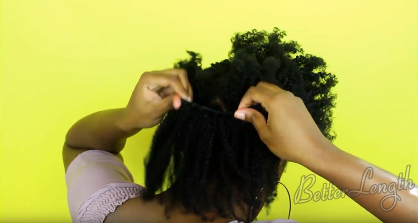 2 3 - How to Blend 4c Natural Hair with Afro Kinky Coily Clip Ins
