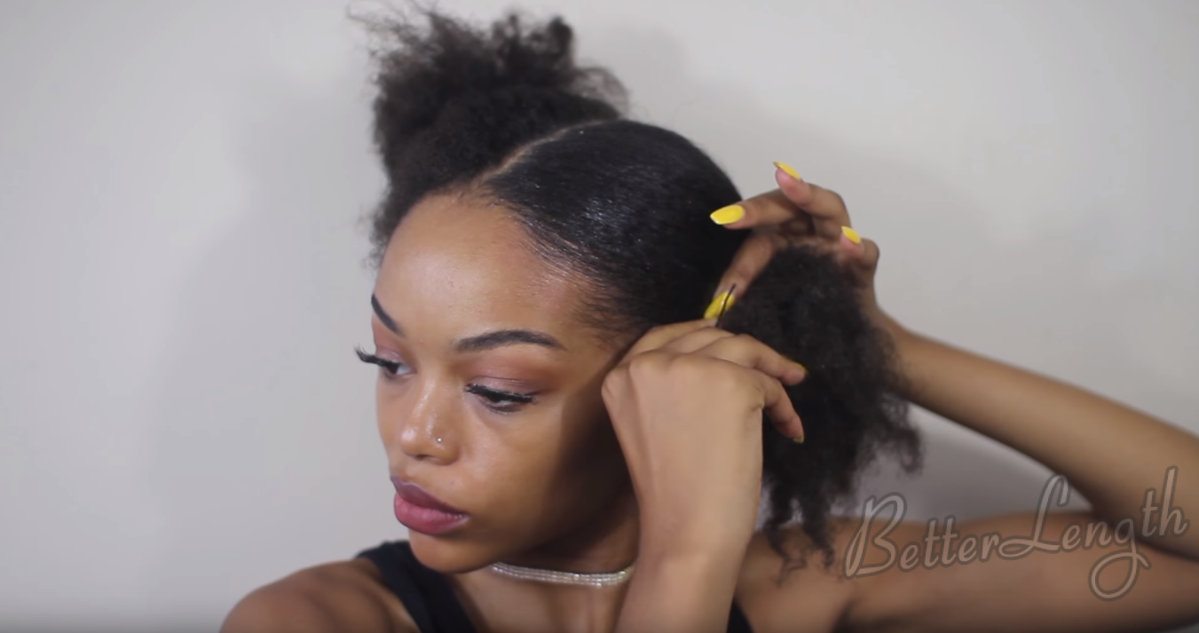 5 8 - Penny Proud Inspired Ponytails Tutorial with Extensions