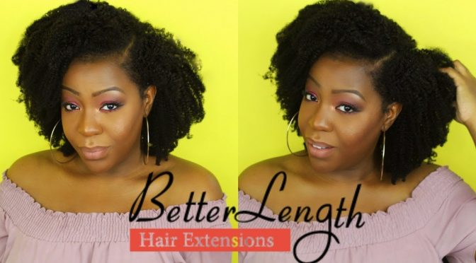 How to Blend 4c Natural Hair with Afro Kinky Coily Clip Ins