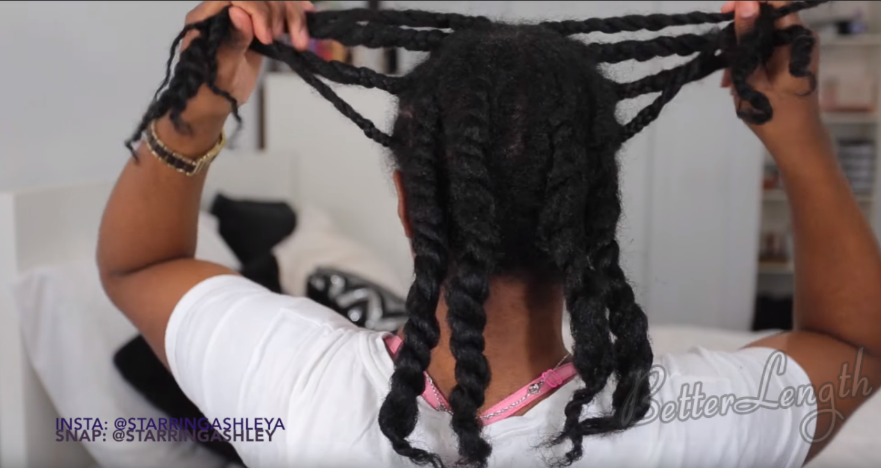 How to Do A Half up Space Buns on Natural Hair with Clip-ins_1