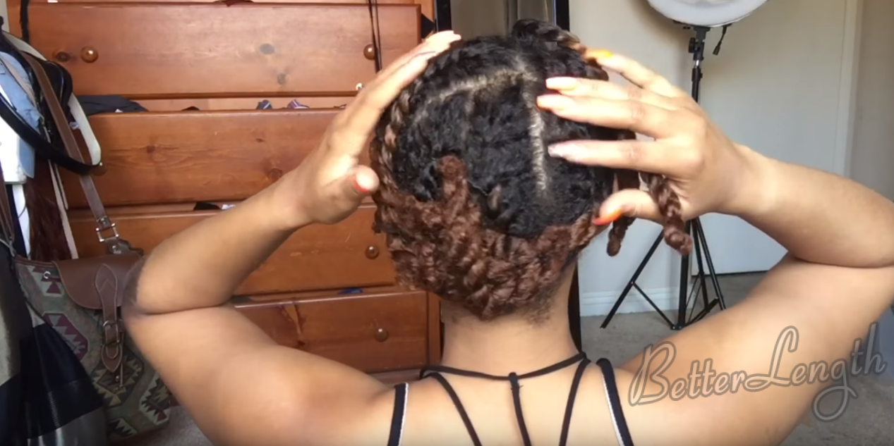 How To Install Clip Ins on Short Natural Hair_1