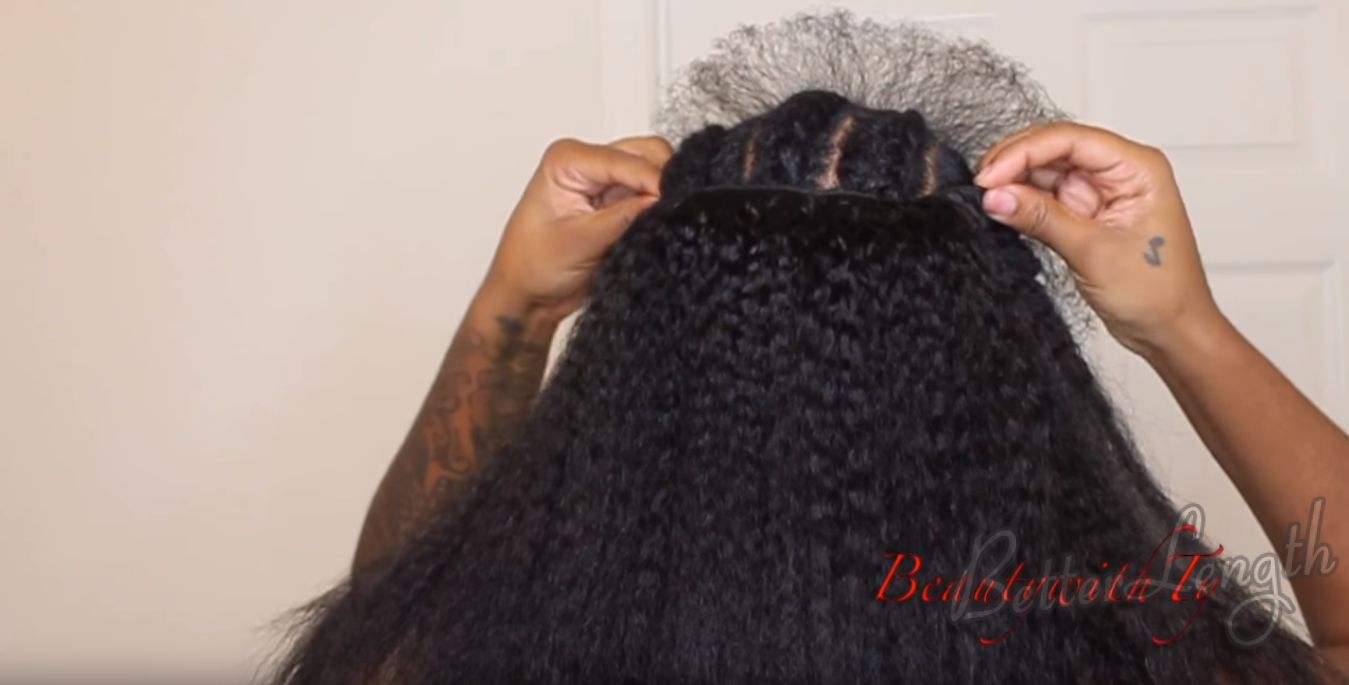 How to Do Easy Hairstyle with Kinky Coarse Clip-ins_11