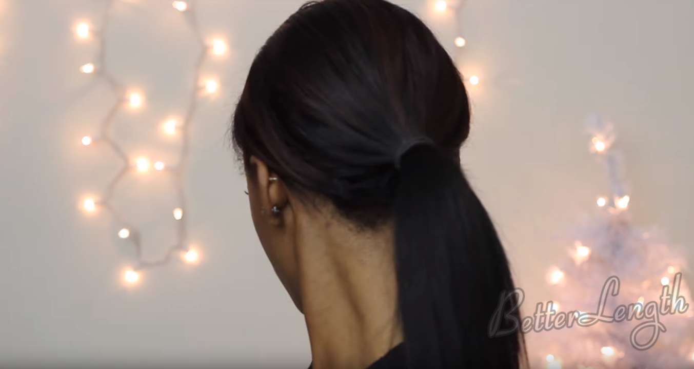 How to Do A Rihanna Inspired Swoop Ponytail for Short Hair with Clip-Ins_11
