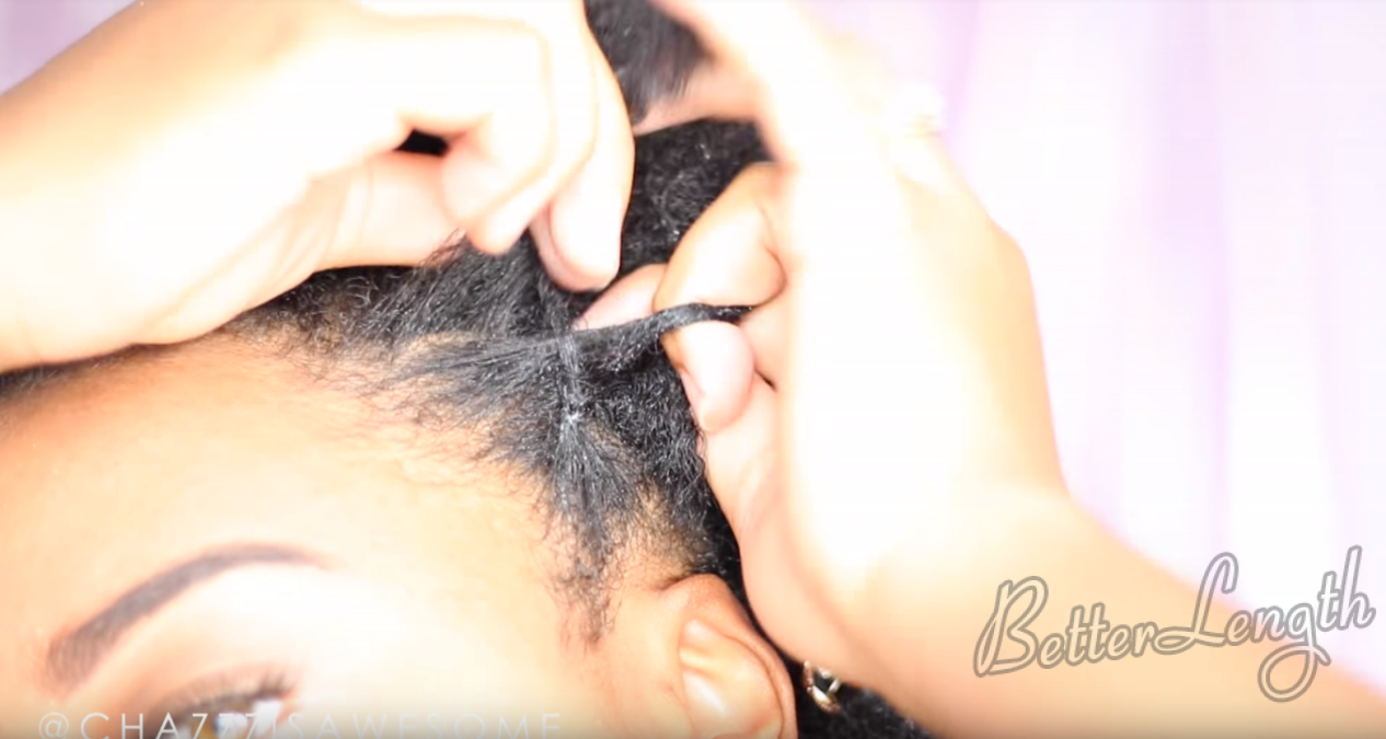 How to Do A Warrior Goddess Natural Hair Updo with Clip Ins_12