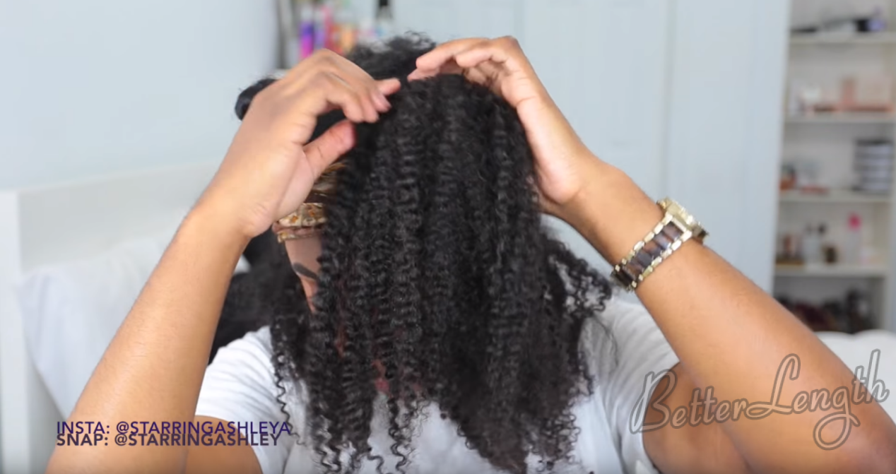 How to Do A Half up Space Buns on Natural Hair with Clip-ins_14