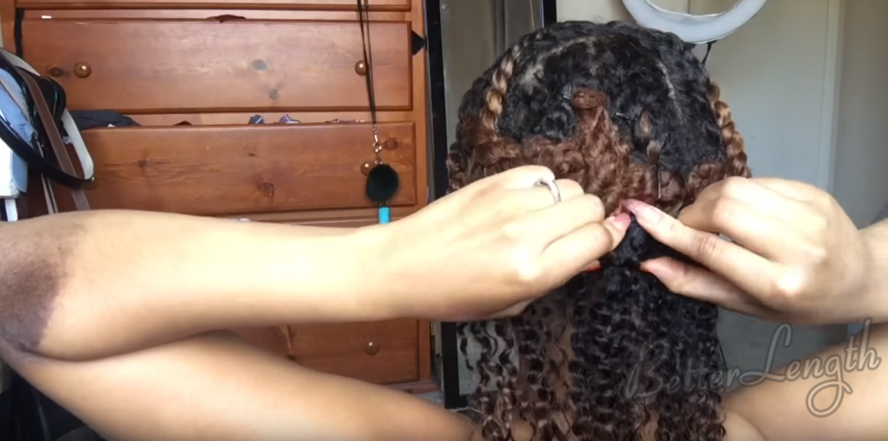 How To Install Clip Ins on Short Natural Hair_2