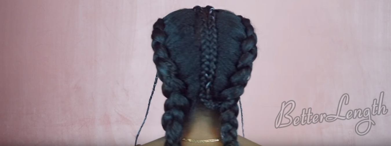 How to turn 2 simple braids into a stunning hairstyle_20