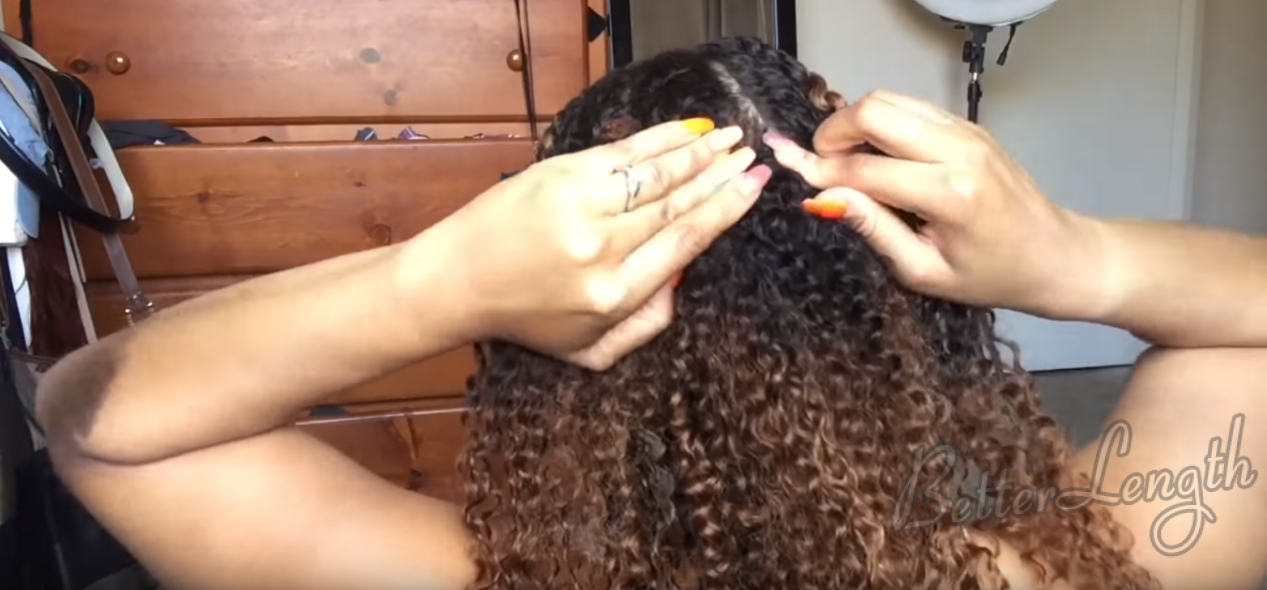 How To Install Clip Ins on Short Natural Hair_3