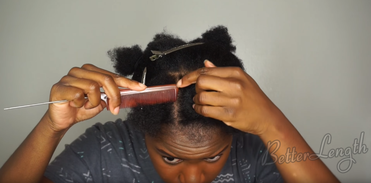 Beginner Friendly Braid and Bun Using Clip-ins on SHORT Natural Hair_3