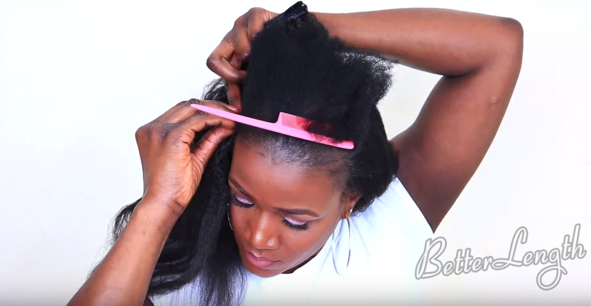 Clip -Ins That Blends Perfectly With Short 4C Hair | Tutorial_4