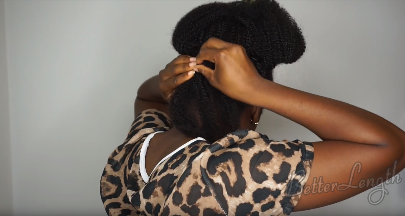 How to Do A Quick And Easy Style using Betterlength Kinky Coily Clip-ins_4