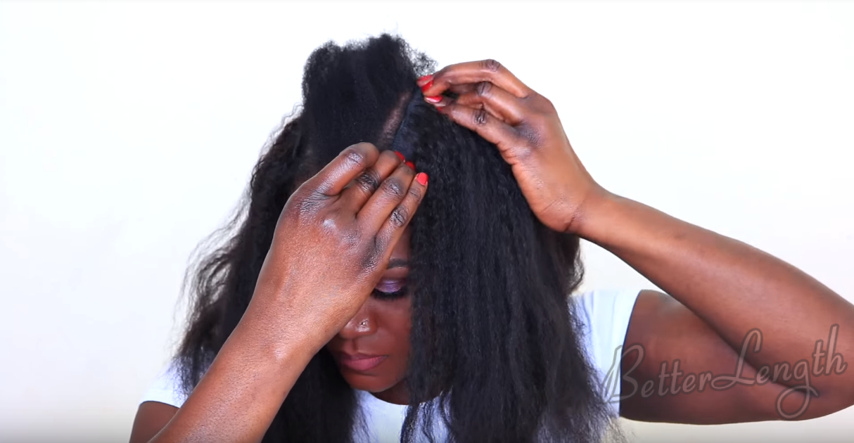 Clip -Ins That Blends Perfectly With Short 4C Hair | Tutorial_5