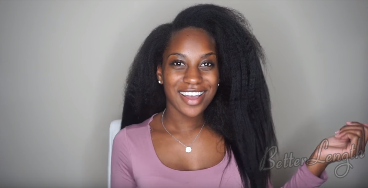 6 13 - How to Do A Ponytail with Kinky Straight Clip-ins