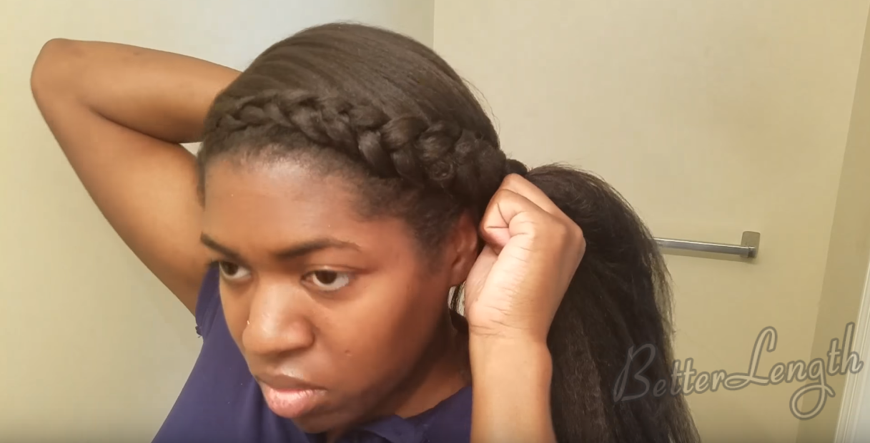 6 14 - How to Do a Braided Protective Hairstyle using Clip in Hair Extensions