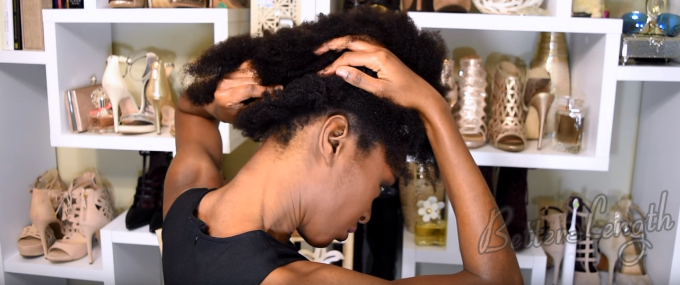 6 3 - Big Afro Puff With Clip-ins For 4b And 4c Natural Hair | Tutorial
