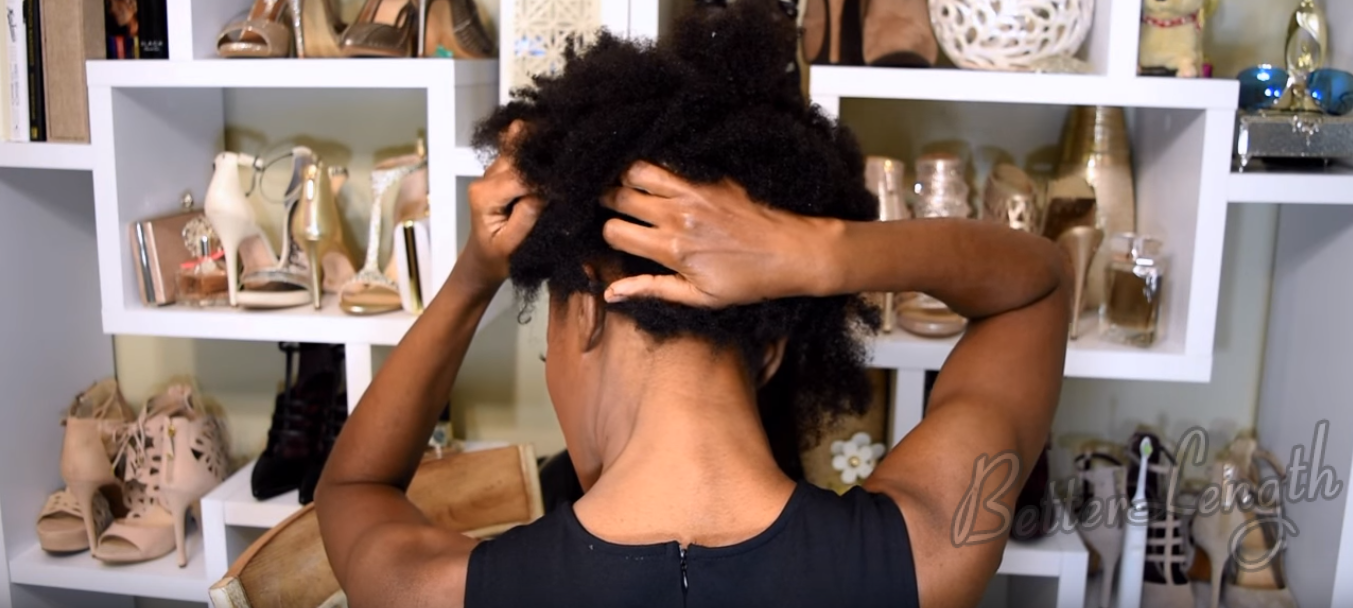 8 3 - Big Afro Puff With Clip-ins For 4b And 4c Natural Hair | Tutorial