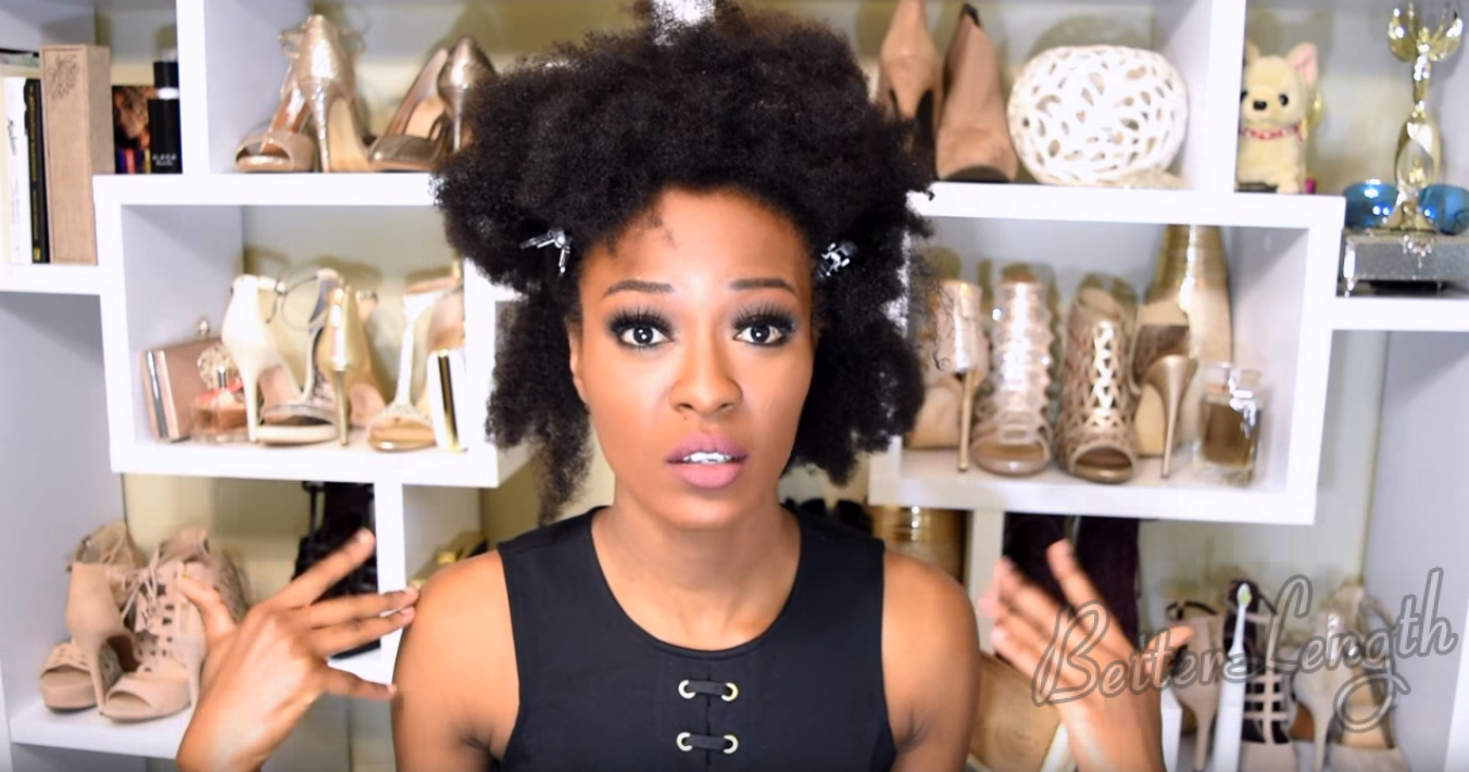 9 3 - Big Afro Puff With Clip-ins For 4b And 4c Natural Hair | Tutorial