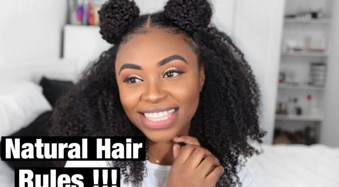 How to Do A Half up Space Buns on Natural Hair with Clip-ins