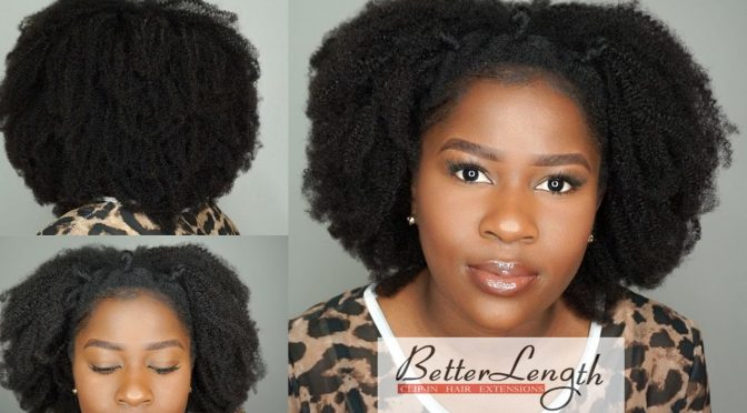 How to Do A Quick And Easy Style using Betterlength Kinky Coily Clip-ins