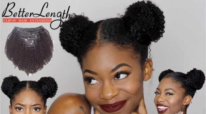 Easy Space Buns Tutorial with Clip-ins