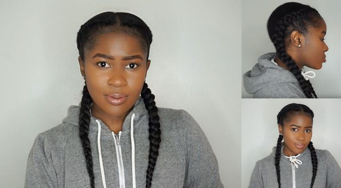 How to Do Feed In Braids Without Using Braiding Hair On Short 4c Natural Hair
