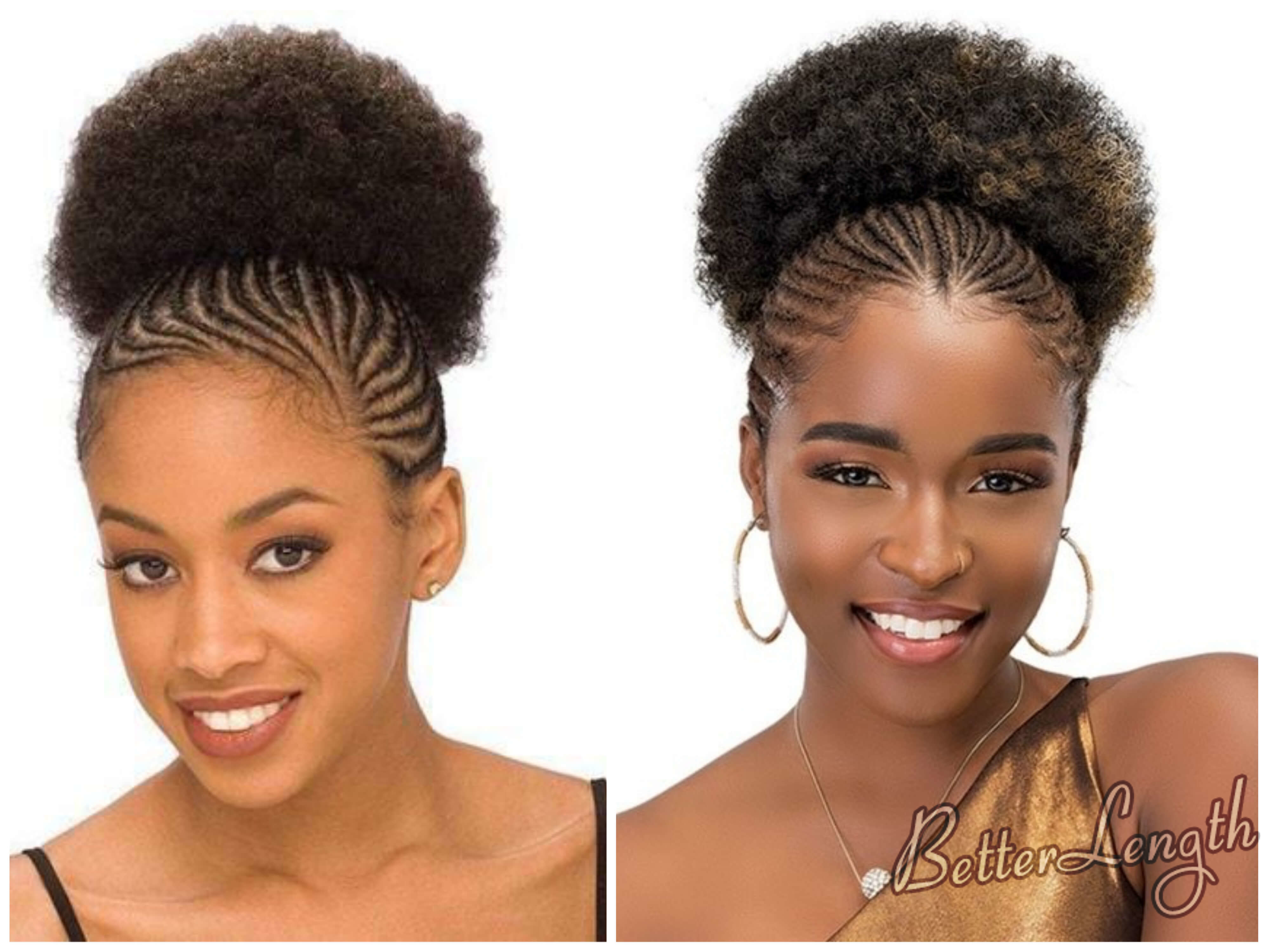 Cornrows With Afro Puff | Best Hairstyles 2018