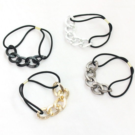 Chic Metal Ponytail Holders