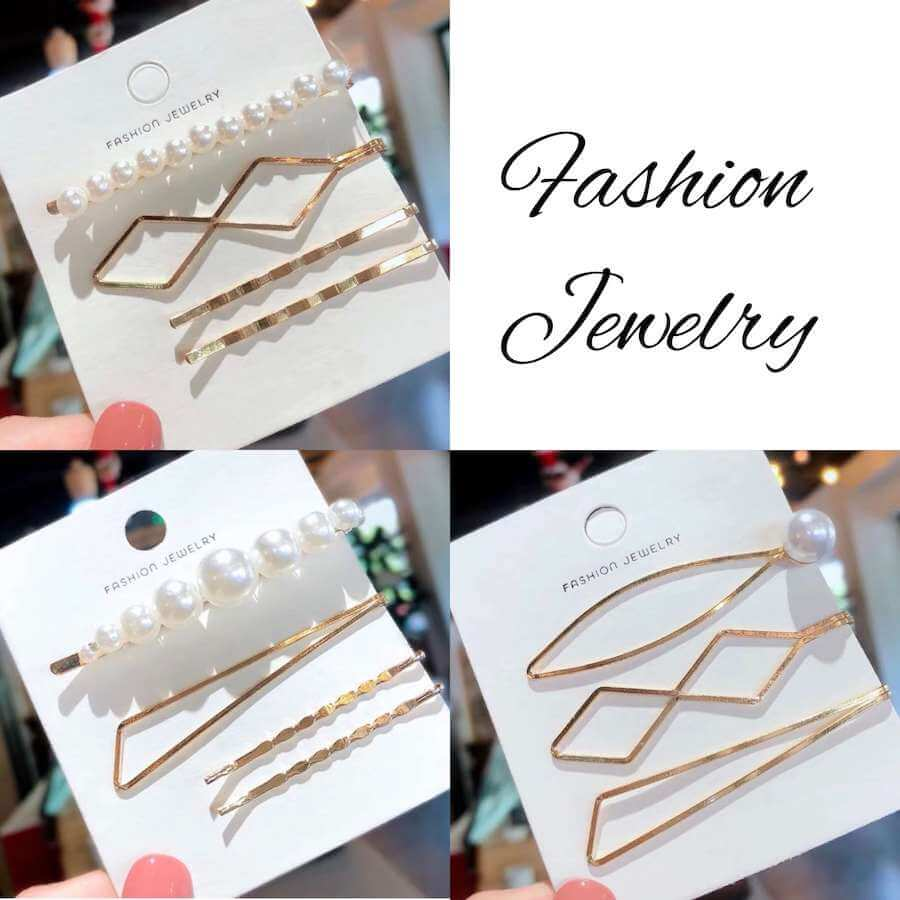 Pearl Gold Bobby Pins Set [accessories]