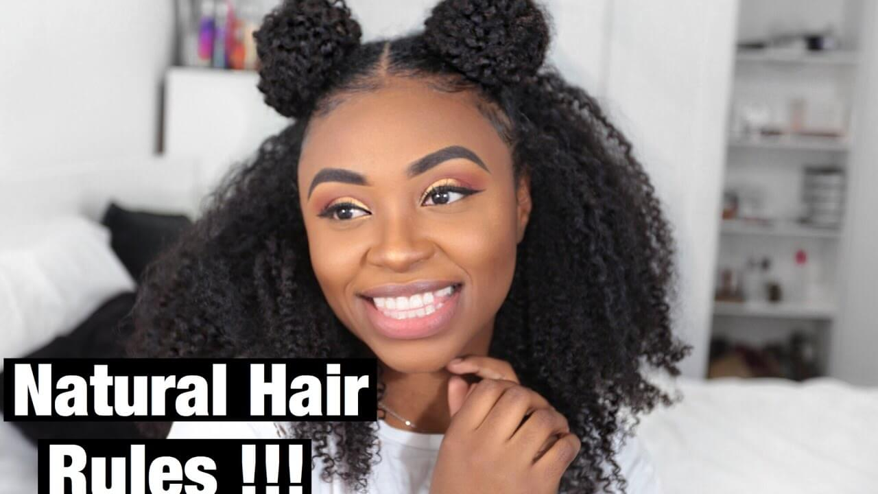 Half up Space Buns on Natural Hair ft. Better Length | Protective Style |