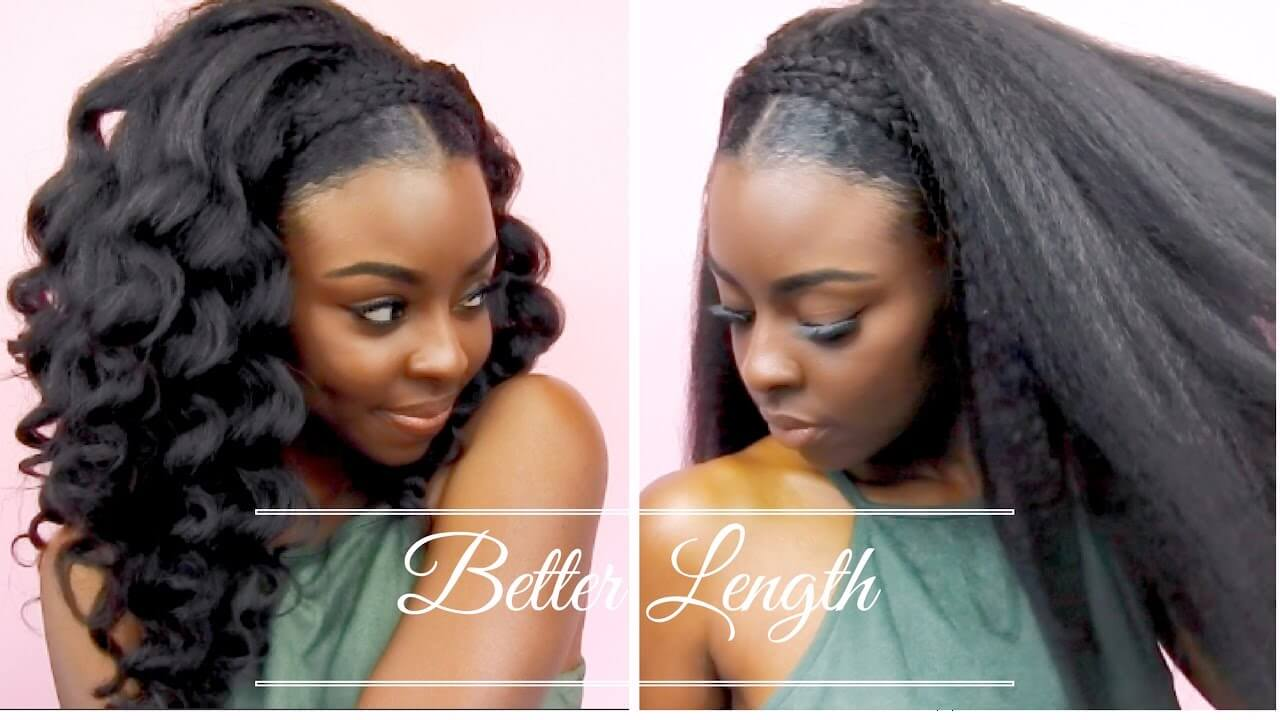 How to Protective Style using clip ins with NO leave out
