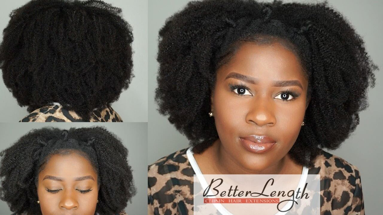 How to do a Quick and Easy Style Using BetterLength Kinky Coilly Clip-ins