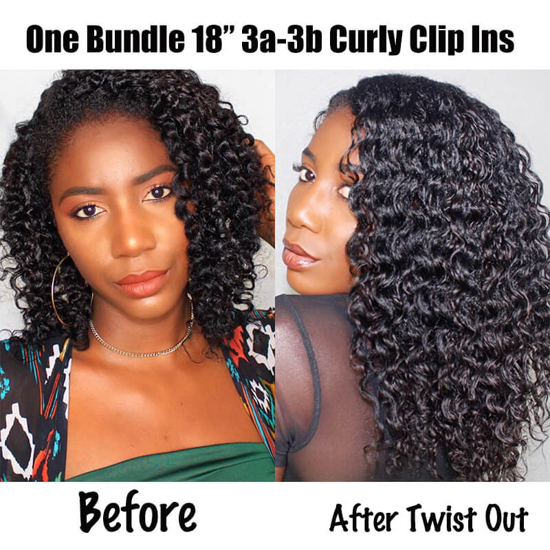 Curly Clip In Set For 3a And 3b Textures