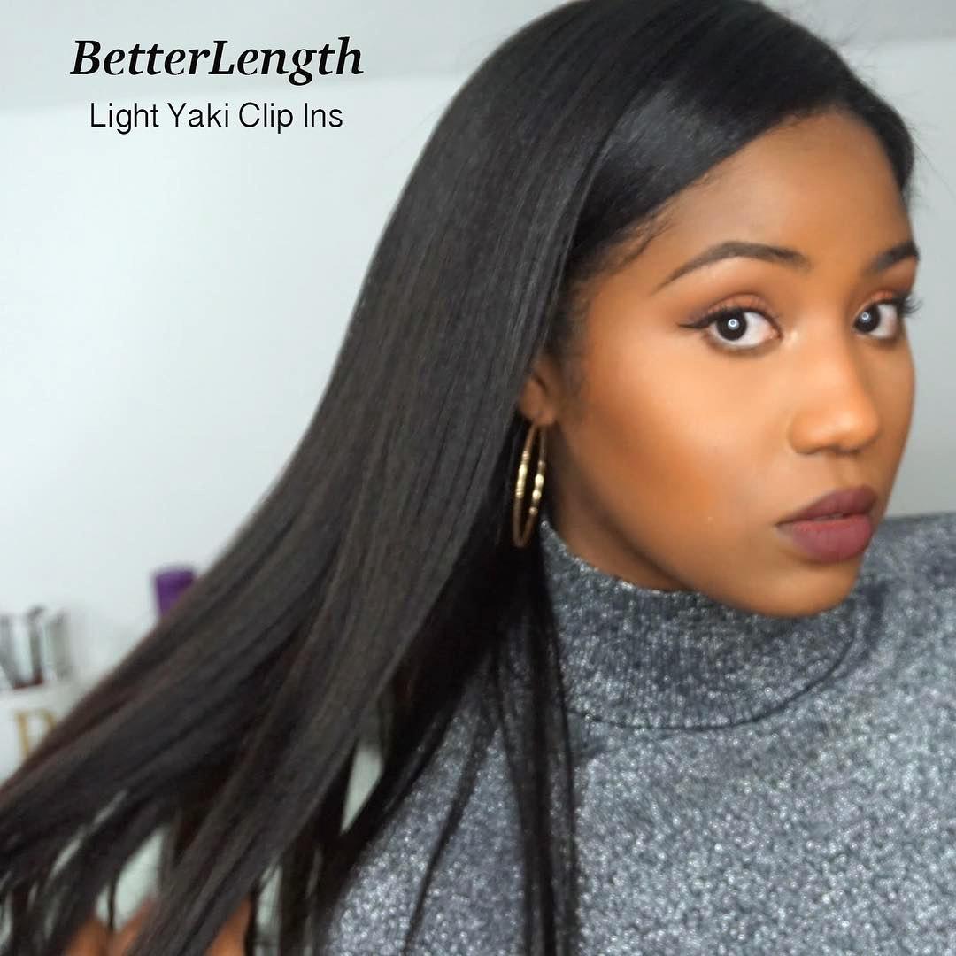 Light yaki clip in hair extensions betterlength next products description betterlength makes the best clip in hair extensions pmusecretfo Gallery